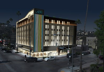 Aloft Glendale Rendering at Night