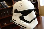 Rare First Order Stormtrooper helmets worn during the filming of Star Wars: The Force Awakens