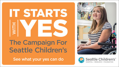 It Starts With Yes: The Campaign for Seattle Children's is a bold initiative to partner with our community and deliver on our shared vision to transform children's health for generations to come.
