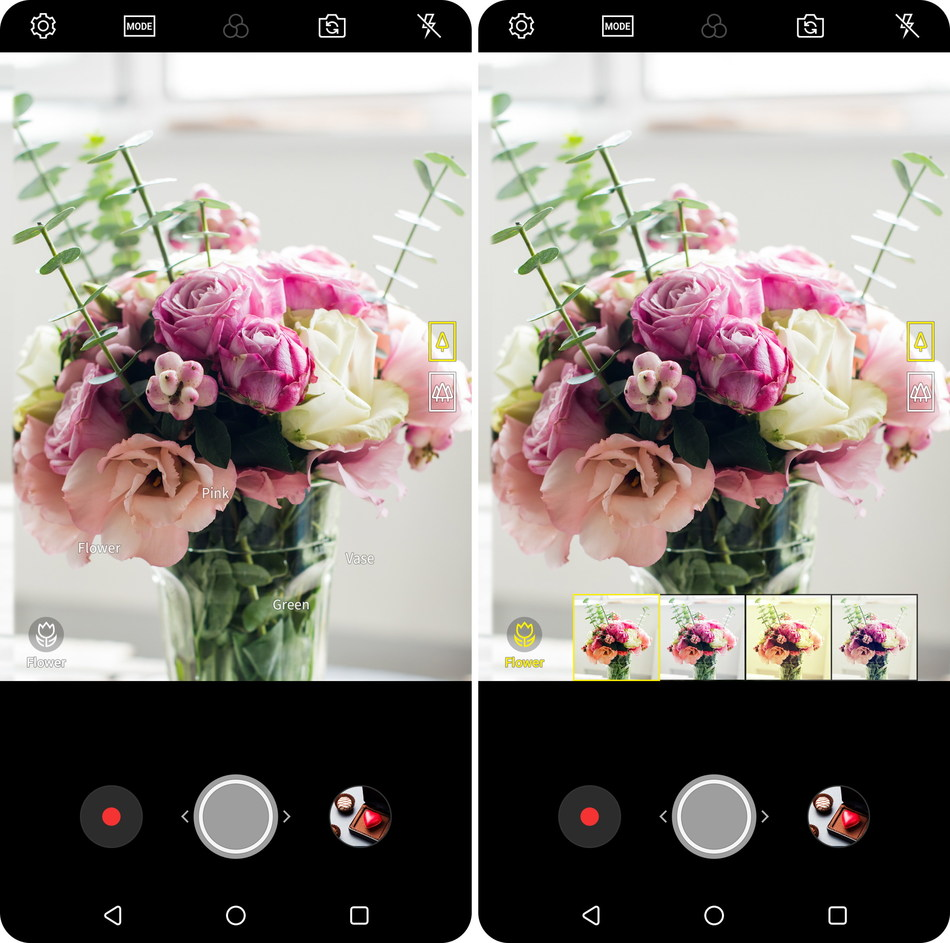 On top of an already impressive list of camera features that include dual lenses, wide-angle low-distortion lenses, and the all-glass Crystal Clear Lens, Vision AI makes the camera of the LG V30 even smarter and easier to use (CNW Group/LG Electronics Canada)