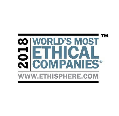 Canon U.S.A., Inc. has been recognized as one of 2018 World's Most Ethical Companies by the Ethisphere Institute.