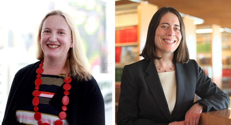 Morrison Prize winners, Jacqueline Peel, associate dean of the Masters program at the University of Melbourne Law School in Melbourne, Australia and Hari M. Osofsky, dean of Penn State Law and the Penn State School of International Affairs