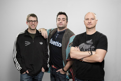 Les fondateurs de Duetto (de gauche à droite) : directeur de la technologie,  Craig Weissman; directeur chef du marketing et de la stratégie, Marco Benvenuti ; et chef de la direction Patrick Bosworth