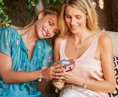 The most beautiful way to say thank you. THOMAS SABO is presenting new sparkling heart Charms for Mother's Day 2018 that emotively symbolise the profound love between mother and child. (PRNewsfoto/THOMAS SABO)