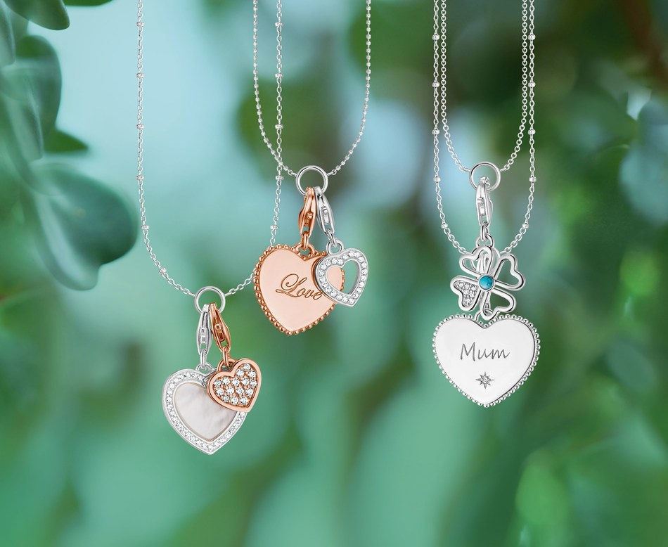 THOMAS SABO Generation Charm Club Edition for Mother's Day 2018: The new heart Charms handcrafted from 925 Sterling silver make every mother's heart beat faster. (PRNewsfoto/THOMAS SABO)