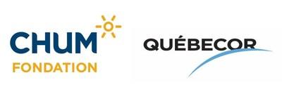 Logo: Fondation du CHUM, Québecor (Groupe CNW/Fondation du CHUM)