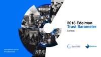 2018 Edelman Trust Barometer Canada (CNW Group/Edelman Public Relations Worldwide)