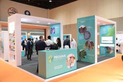 The Pegasus Food Futures Booth at GFIA 2018 (PRNewsfoto/Pegasus Food Futures)