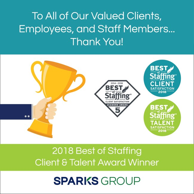 Sparks Group would like to thank our valued clients, employees and staff members.