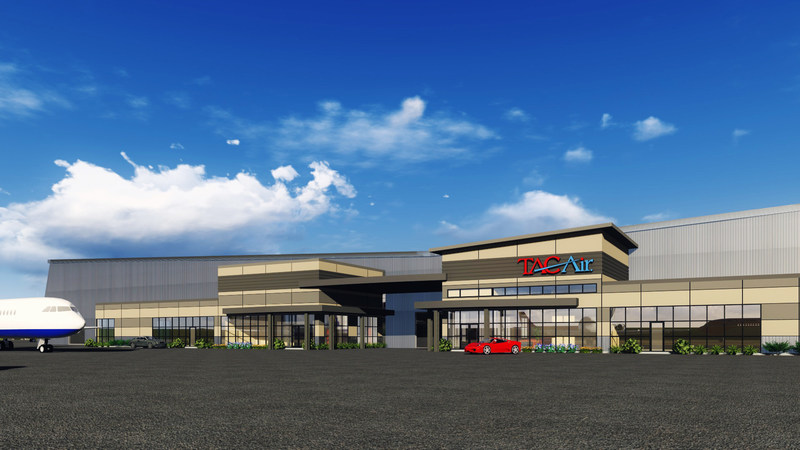 TAC Air - DAL FBO at the Braniff Centre - Dallas Love Field, Ramp Side rendering by The Gravity Company