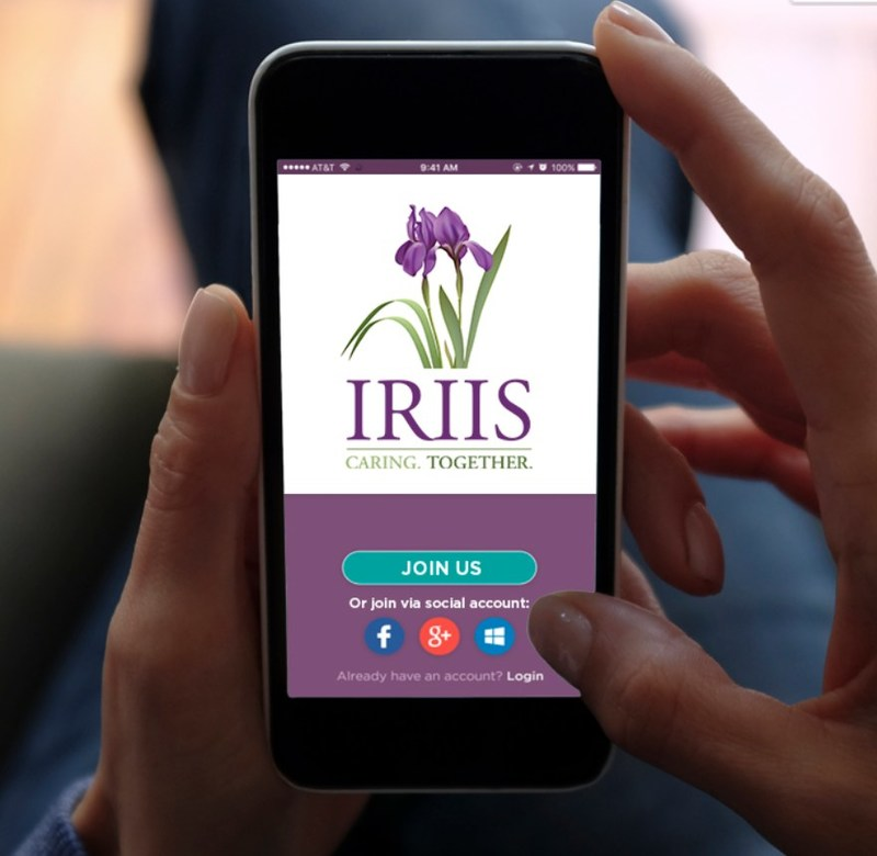 Iriis - Caring. Together.  iPhone, Android, and web application to help with the care, management, and enrichment of your life as a family caregiver.