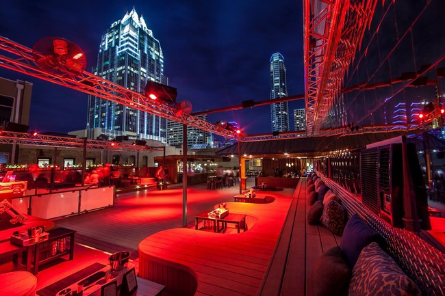 Summit Rooftop Lounge at SXSW; available for rental through SpaceCadet