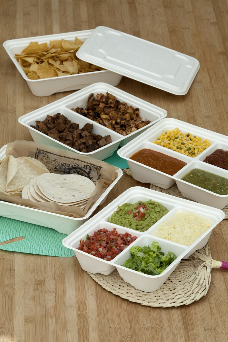 Eco-Products is expanding Regalia™ - a fully compostable line of products for caterers seeking innovative, environmentally friendly solutions for their events. The line will now feature half trays made from sugarcane and available in one-, two- and four-compartment sizes. A common lid - also compostable - makes stocking easy and drop-off catering even easier.