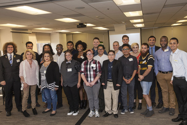 Point Foundation Community College Program scholarship recipients at 2017 transfer symposium in Los Angeles.