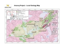 Amaruq Project Local Geology Map (CNW Group/Agnico Eagle Mines Limited)
