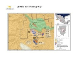 La India Area Property and Location Map (CNW Group/Agnico Eagle Mines Limited)