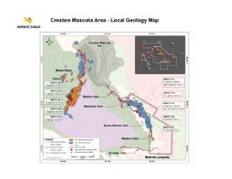 Creston Mascota Area Local Geology Map (CNW Group/Agnico Eagle Mines Limited)