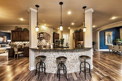 A Taylor Morrison model home in the Reunion Ranch community in Austin, Texas.