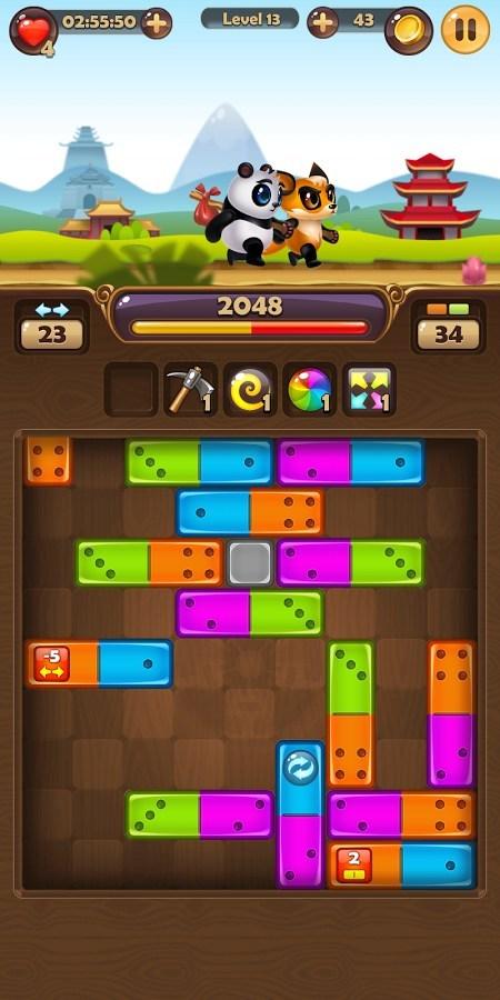 Pandamino gameplay
