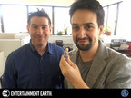Entertainment Earth President Jason Labowitz and Lin-Manuel Miranda meeting in New York City to launch new collectibles line.