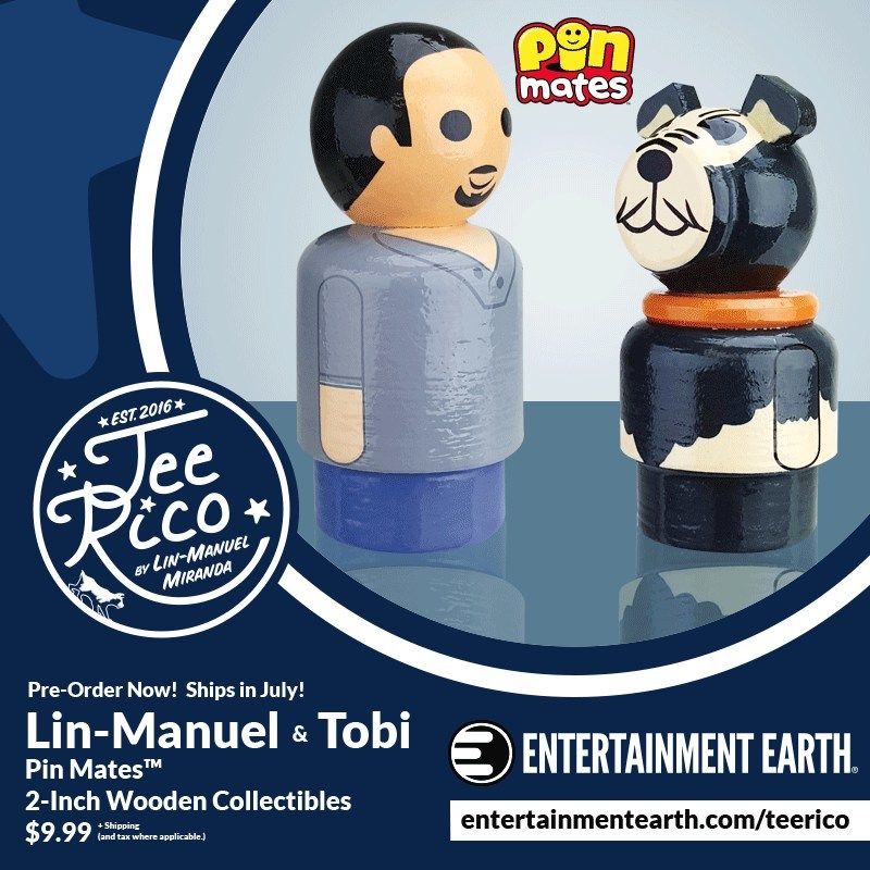 Lin-Manuel and Tobi Pin Mates Wooden Collectibles (Set of 2)