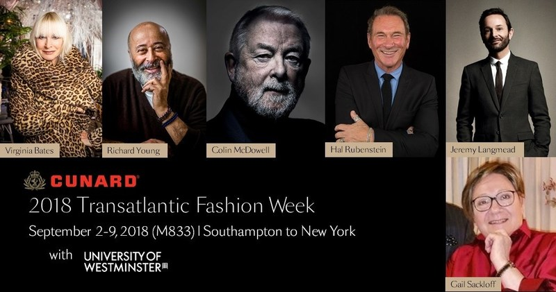 The University of Westminster to Debut London Fashion Week Collection During Cunard's Transatlantic Fashion Week