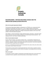 Backgrounder – Protein Industries Canada and the Innovation Superclusters Initiative (CNW Group/Protein Industries Canada)