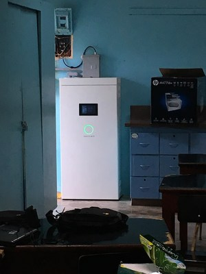 The sonnen smart energy storage system powering S.U. Matrullas, a K through 9 school that educates over 150 students in the remote town of Orocovis, Puerto Rico