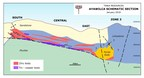 Figure 2.  Schematic longitudinal section of Ayawilca looking to the northwest (CNW Group/Tinka Resources Limited)