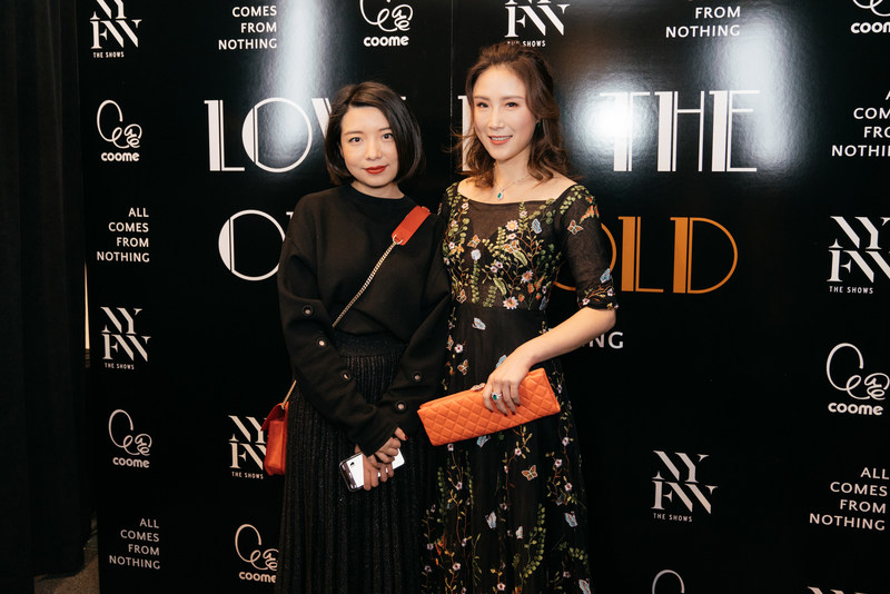 Eva xu and Joyee Zhao  group photo [show] ALL COMES FROM NOTHING 18 years of autumn and winter new product