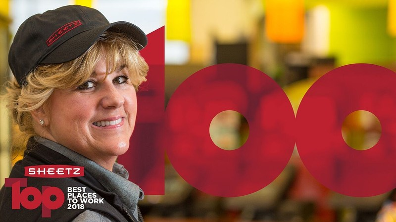 On Thursday, Feb. 15, 2018, Sheetz was named #66 on the 2018 Fortune Best Companies to Work For list.  This represents the fourth time in five years Sheetz has been named to this very distinguished list.