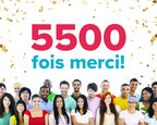 5500 fois merci! (Groupe CNW/ChallengeU)