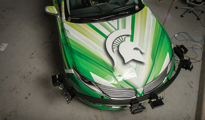 MSU researchers are using this vehicle to assess and analyze various technologies that could be used to advance autonomous, or self-driving, vehicles. ©2017 G. L. Kohuth, Michigan State University, Communications and Brand Strategy