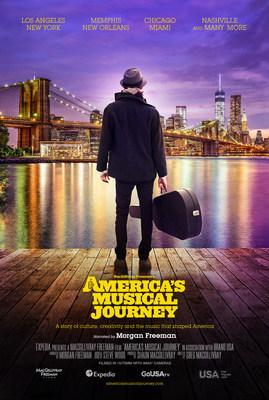 MacGillivray Freeman Films, Brand USA y sus socios patrocinadores lanzan America's Musical Journey, el nuevo documental para IMAX® protagonizado por el cantante y compositor nominado al premio Grammy® Aloe Blacc, y narrada por el ganador del Premio de la Academia®, Morgan Freeman