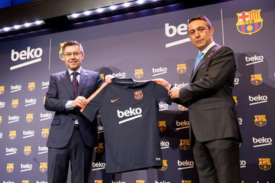 """Vice Chairman Koç Holding, the largest conglomerate of Turkey and parent company of Beko, Ali Y. Koç comments: """"We are delighted to extend our relationship with FC Barcelona, one of the world's greatest football clubs. Beko, like FC Barcelona has a proud and long-standing history of constantly striving to improve standards and break new ground. Not only this, but we believe that sport has an incredible power to bring people together through shared values, team spirit and the challenge to better ourselves day after day. We are therefore, proud to have FC Barcelona at our side, as we strive for even greater global growth and success in the years to come."""" (PRNewsfoto/Beko)"""
