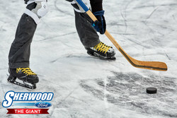 Sherwood Ford sponsors athlete in the World's Longest Hockey Game