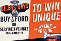 Sherwood Ford provides hockey fans and customer a chance to win Edmonton Oilers gear