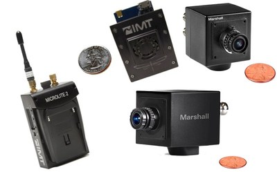 IMTDragonFly and IMT MicroLite 2 transmitters, Marshall CV505 and Marshall CV502 Cameras