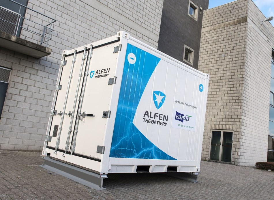 Alfen to supply energy storage system to Belgian grid operator Eandis to prepare for the future (PRNewsfoto/Alfen)