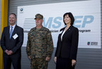 Bernhard Kuhnt, CEO of BMW of North America, Brig. Gen. Kevin J. Killea, Commanding General, Marine Corps Installations West-Marine Corps Base Camp Pendleton, Kim McWaters, CEO of Universal Technical Institute
