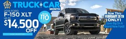Chattanooga-area car shoppers who are looking for a great price on a brand-new Ford car, truck or crossover this February will benefit from exceptional savings at Marshal Mize Ford during the Truck and Car Month Sales Event that lasts through Feb. 28.