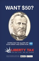 """Ulysses S. Grant Stars in Liberty Tax's Augmented Reality """"Send-a-Friend"""" Promotion Launching on Presidents' Day"""