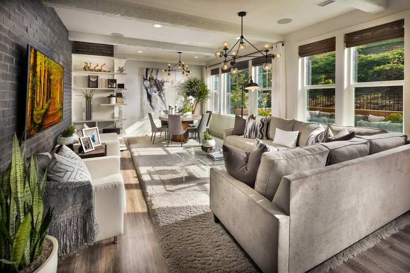 Ample space within the Great Room at a Founders model home. Courtesy of Trumark Homes