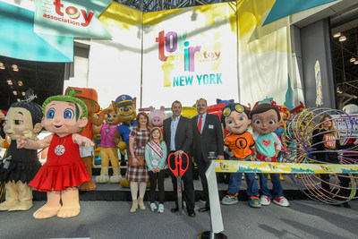 The ribbon was cut early this morning at the 115th North American International Toy Fair in New York City, where hundreds of thousands of creative new toys and games were unveiled.