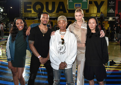 From L to R Cari Champion, Damian Lillard, Pharrell Williams, Karlie Kloss and Alexander Wang at the adidas 747 Warehouse St Festival - PHOTO CREDIT NEILSON BARNARD GETTY IMAGES FOR ADIDAS.jpg