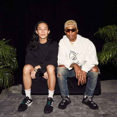 From L to R Alexander Wang and Pharrell Williams at the adidas 747 Warehouse Street Festival