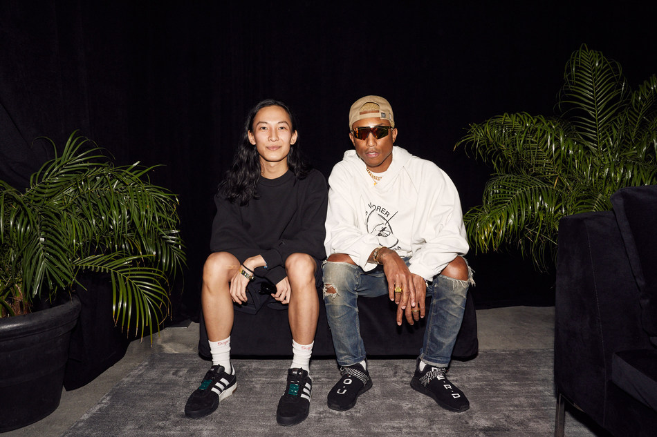 From L to R Alexander Wang and Pharrell Williams at the adidas 747 Warehouse St Festival