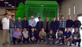 Korean Scholars and Industrialists Visit Air Burners, Inc. in Palm City, Florida