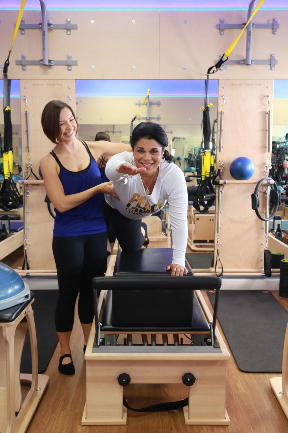 Sarah Luna Training Long Beach Club Pilates Client (PRNewsfoto/Club Pilates)