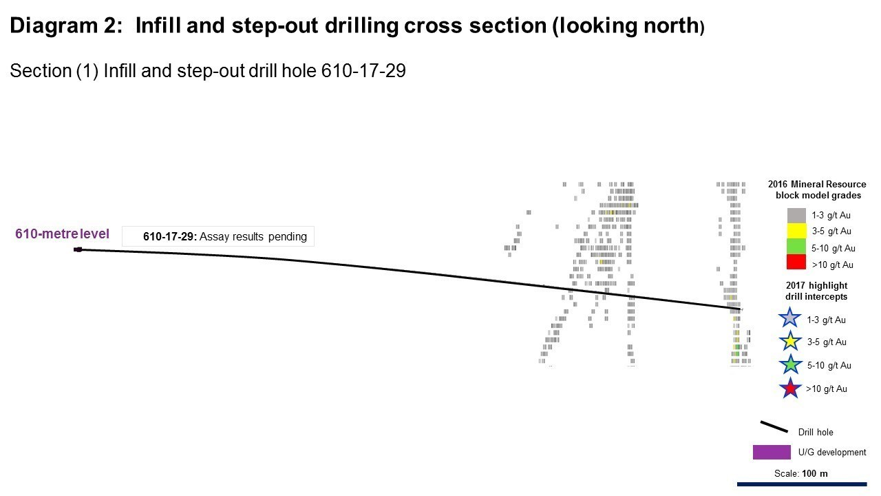Diagram 2: Infill and step-out drilling cross section (looking north) (CNW Group/Rubicon Minerals Corporation)